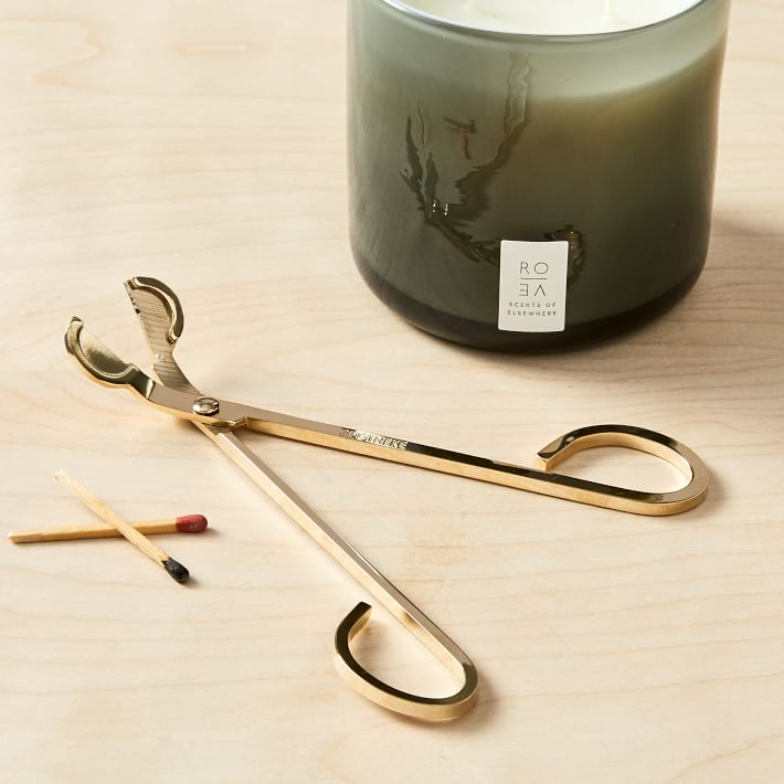 Wick Trimmer Candle Snuffer Brass Finish Key Details