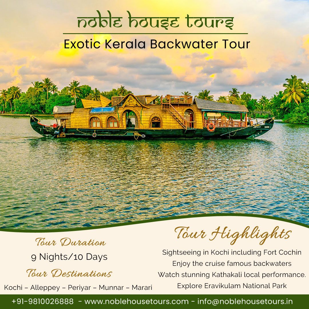 Book now our amazing Exotic Kerala backwater tour and explore the beauty of nature.  #noblehousetours #travel #kerala #adventure #keralabackwaters #keralatourism #india #backwaters  #travelgram #keralagram #keralaphotography #wonderfuldestinations #wanderlust #traveldiaries  #topdestinations #travelphotography #incredibleindia #beautifulplaces #indiaclicks #picoftheday #adventure  #exploreindia #bestplaces #keralatourism #indiaclicks #incredibleindia #placestovisit #beautifulindia #travelindia