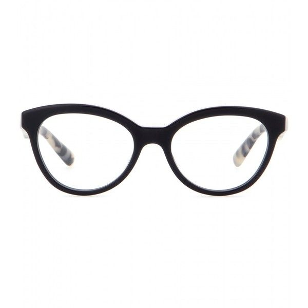 ace8a9f451 Prada Cat-Eye Optical Glasses ($276) ❤ liked on Polyvore featuring  accessories, eyewear, eyeglasses, glasses, sunglasses, black, cateye  glasses, ...