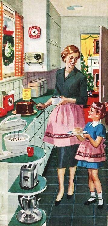 De tout le blog de feutrinesetpiqueaiguilles affiches vintage vendanges d coration - Affiche cuisine retro ...