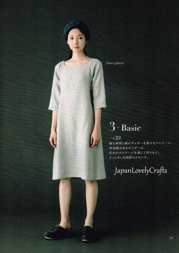 Simple Basic Japanese Style Dress Pattern, Aoi Koda, Japanese Sewing ...