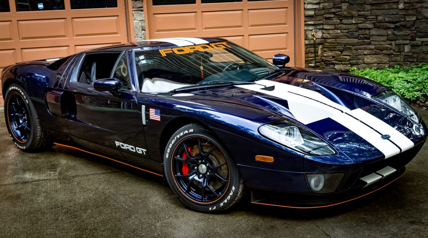Midnight Blue 2005 Ford Gt Heading To Auction Ford Gt Ford Gt For Sale Ford