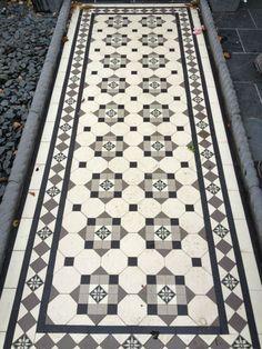 Black And White Mosaic Floor Tile