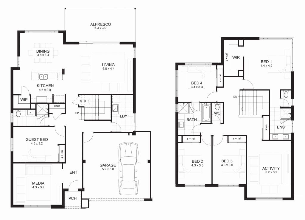 5 Bedrooms House Plans Beautiful Beautiful 5 Bedroom Double Storey House Plans New Home 6 Bedroom House Plans 5 Bedroom House Plans House Plans