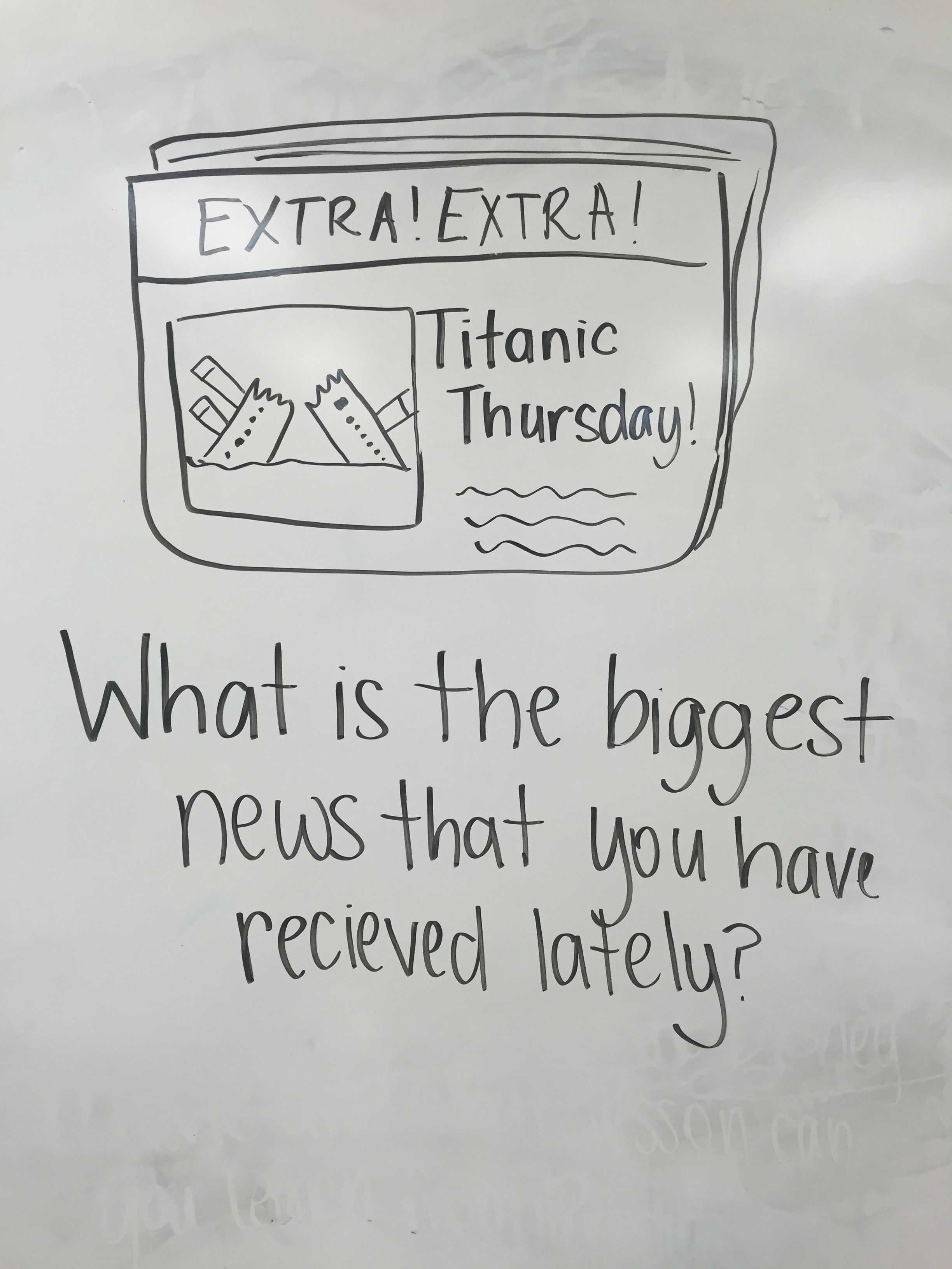 Titanic Thursday Writing Prompt For 3rd Grade