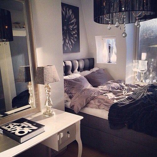 10 Cozy And Dreamy Bedroom With Galaxy Themes: Bed, Bedroom, Blankets, Cozy, Diy, Dream Room, Grey