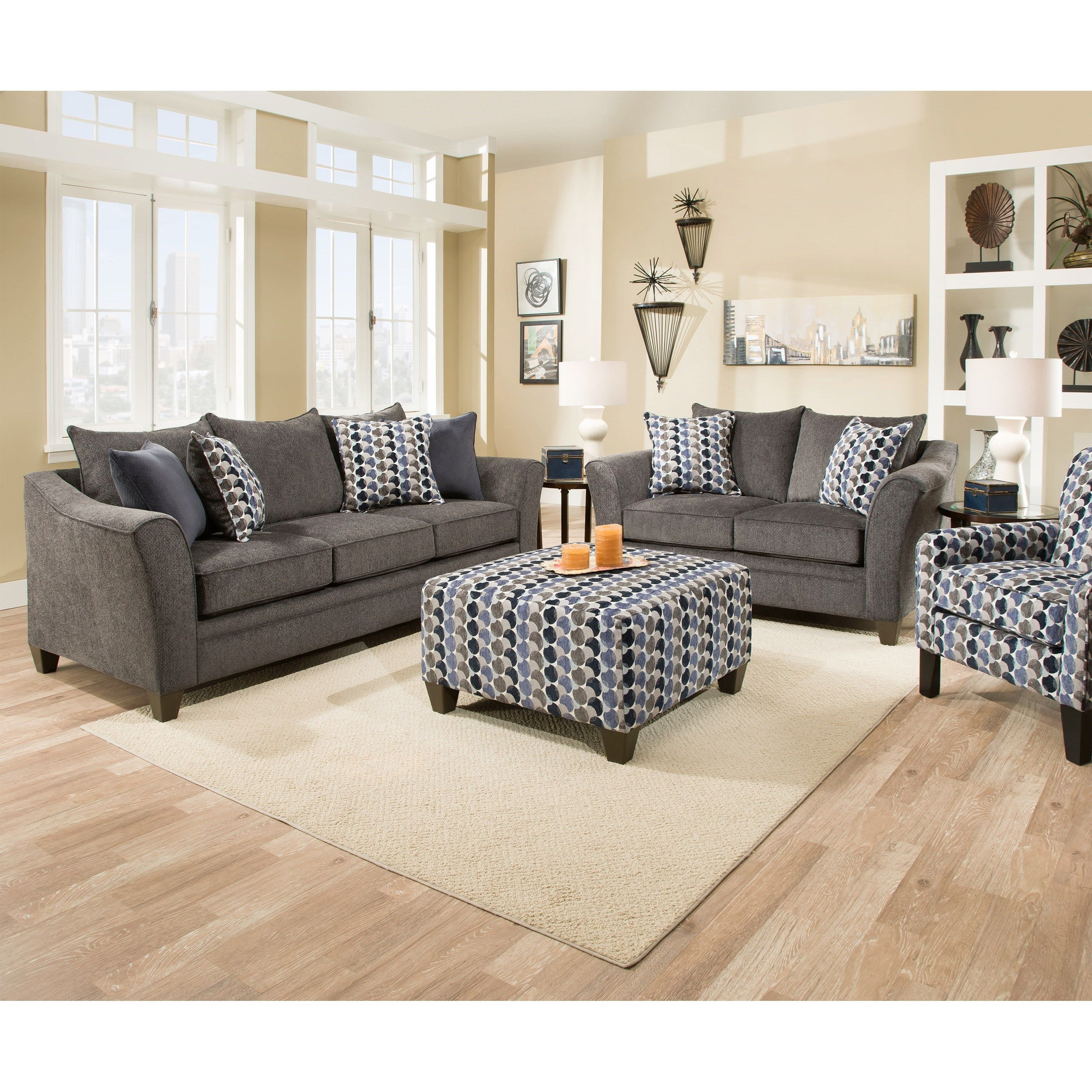 Living Room Groups United Furniture Industries 6485stationary Living