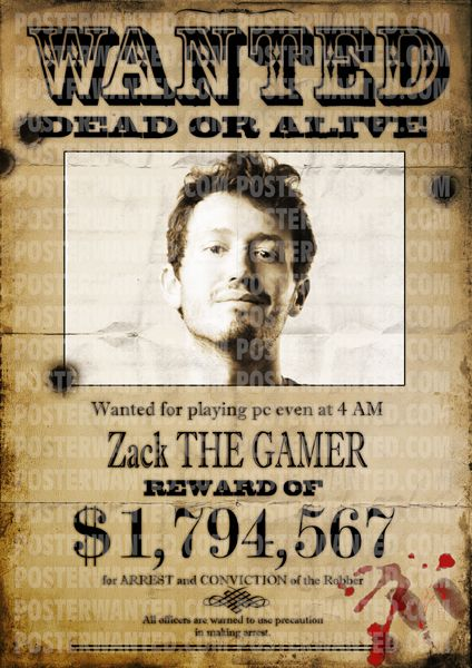 Real wanted poster can be made by you - upload photo, enter the ...