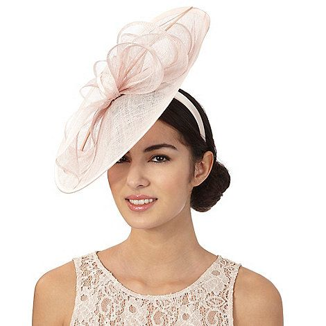 7db12f2667b7e Debut Pink bow saucer fascinator-