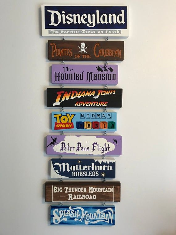 Hand painted Disneyland sign, completely custom to