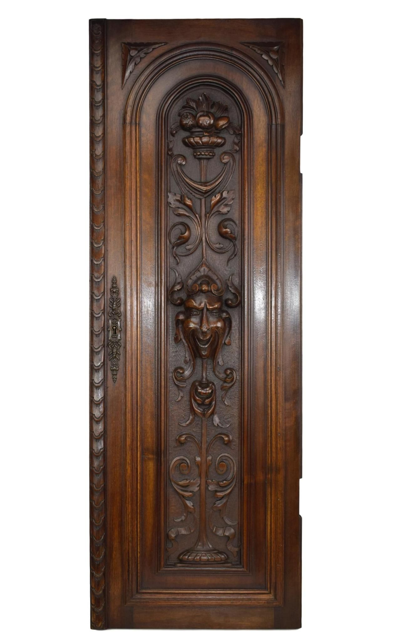 French Antique Neo Gothic Large Carved Salvaged Wood Door - Grotesque Wall  Panel - Renaissance Style - Grotesque Door In 2018 Carvings Pinterest French Antiques