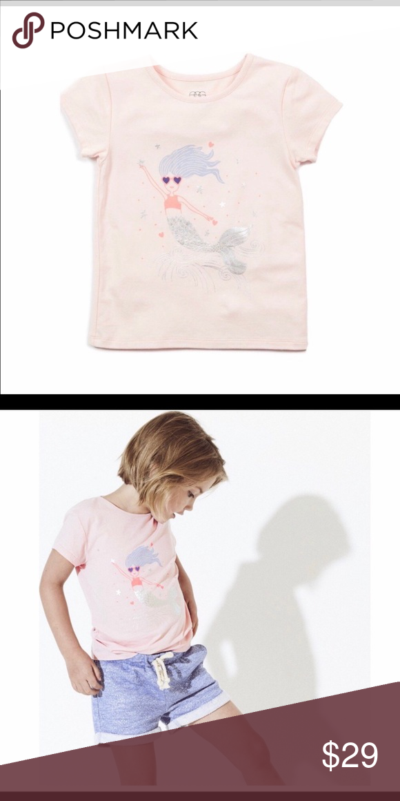 a5ef3ed15 EGG baby Cleo graphic tee NWT egg baby by Susan lazar in blush Cleo mermaid  graphic