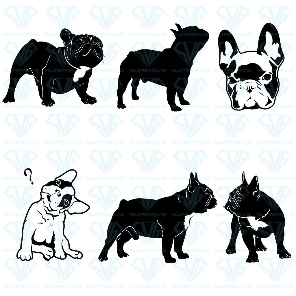 French Bulldog Silhouette Vector Bundle Svg Files For Silhouette Files For Cricut Svg Dxf Eps Png Instant Download Supersvg Silhouette Vector Merle French Bulldog French Bulldog
