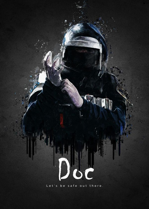 Rainbow Six Siege Characters Doc Displate Artwork By Artist Tra
