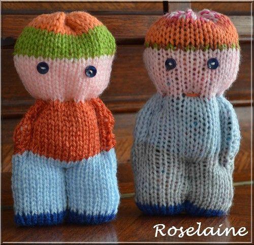des doudous au tricot je tricote tu croch tes tricot oursons pinterest knitted dolls. Black Bedroom Furniture Sets. Home Design Ideas