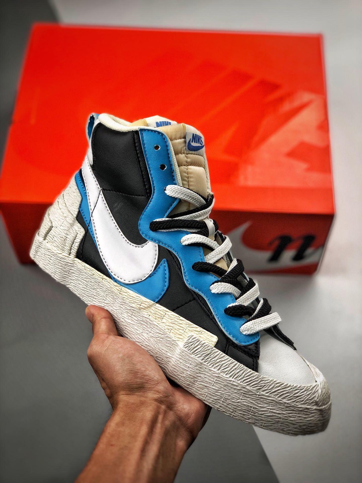 Sacai x Nike Blazer Mid BV0072 001   Nike, Popular sneakers