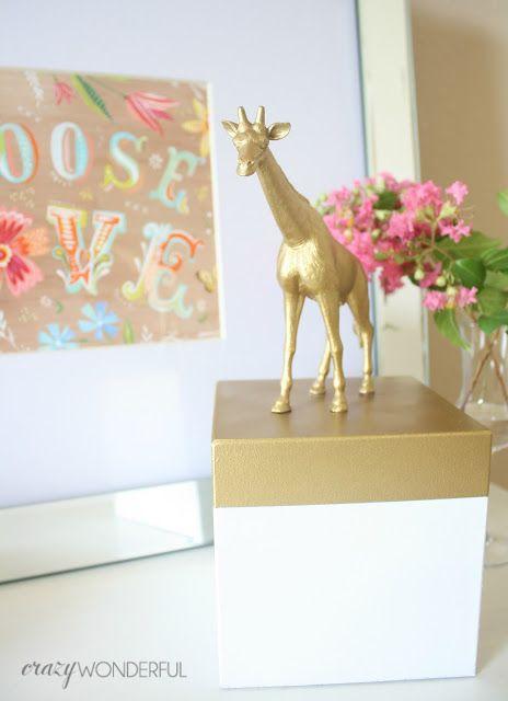 Crazy Wonderful: gold animal jewelry box
