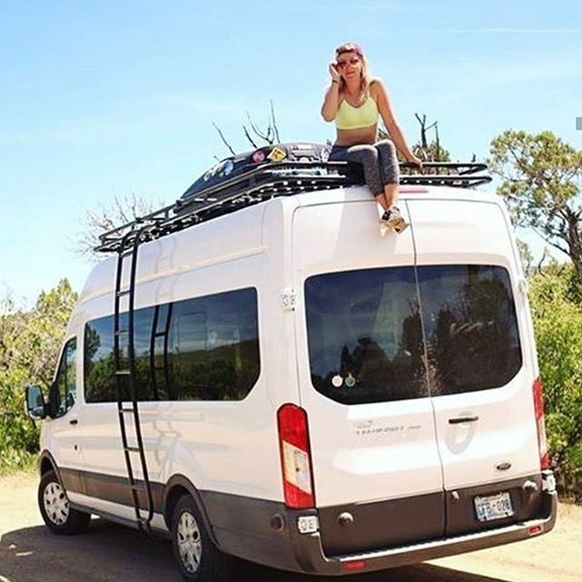 Another Use For An Aluminess Roof Rack Better Phone Reception Aluminess Roofrack Ford Transit Ford Transit Campervan Ford Transit Conversion
