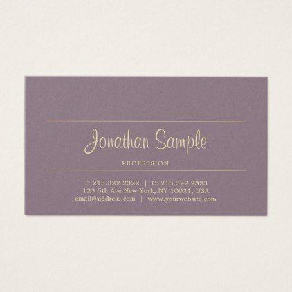 Handwritten Script Chic Gold Beauty Salon Luxury Business Card