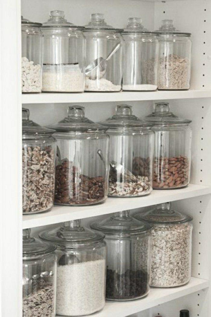 les bocaux en verre sont un vrai hit pour la cuisine mais. Black Bedroom Furniture Sets. Home Design Ideas
