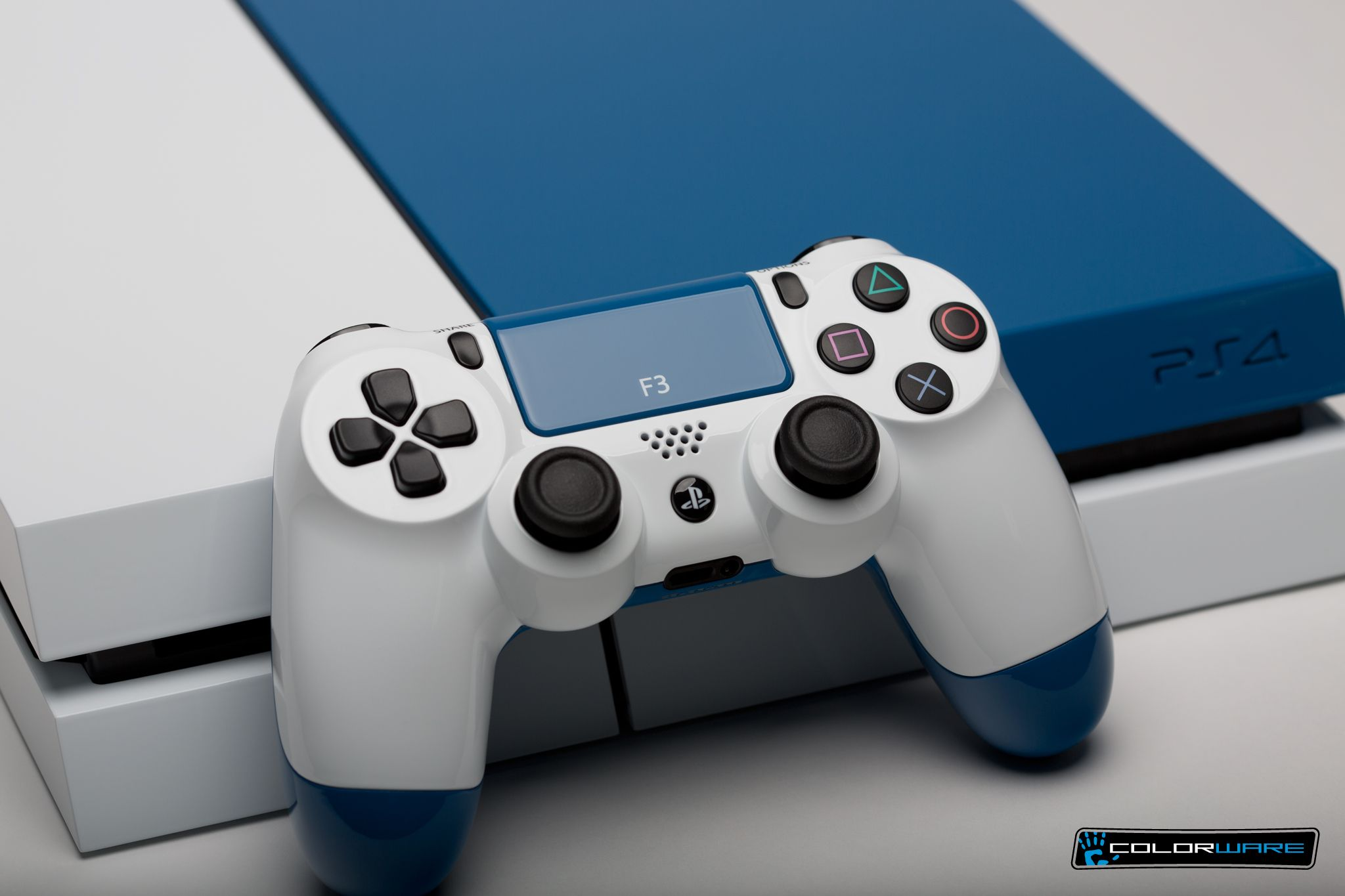 A great looking custom PS4 with controller! Ps4