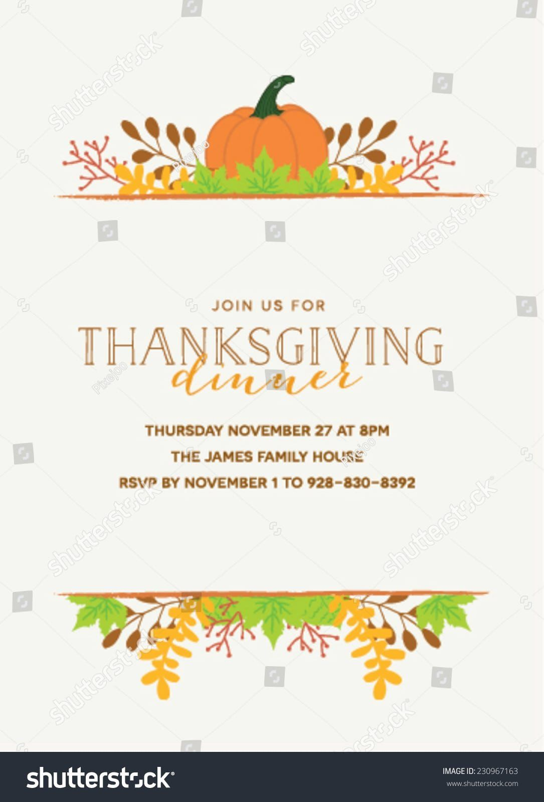 Thanksgiving Invitation Templates Free Word Thanksgiving Invitation Templat Thanksgiving Invitation Thanksgiving Invitation Template Dinner Invitation Template