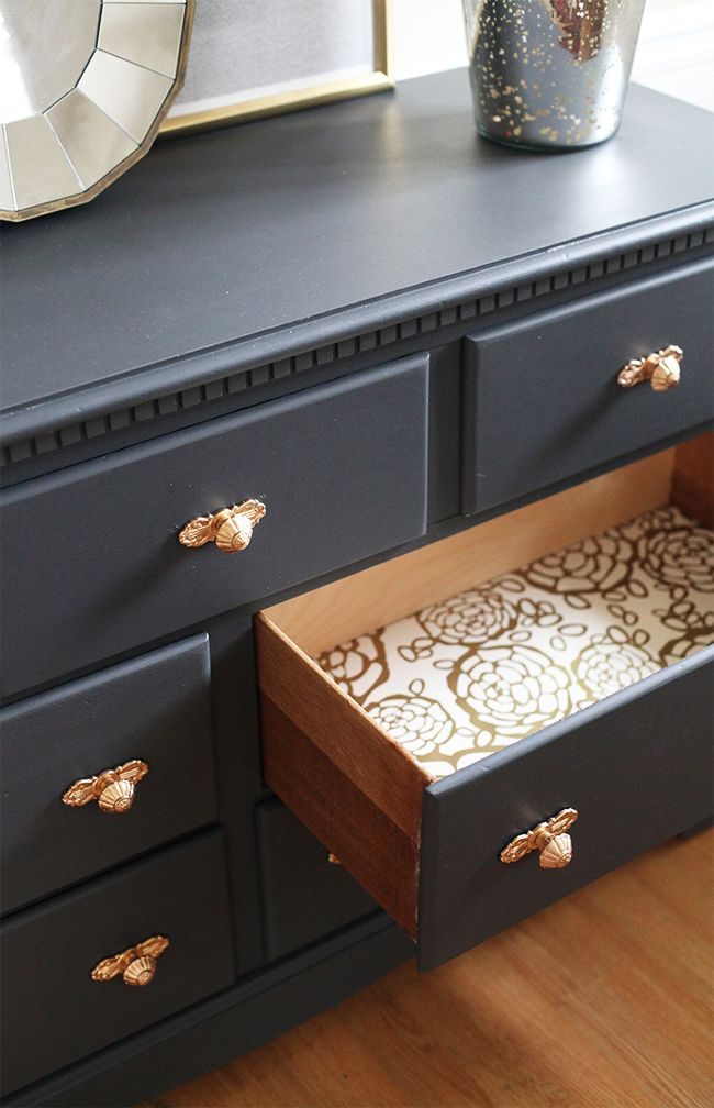 Line Drawers With Wallpaper