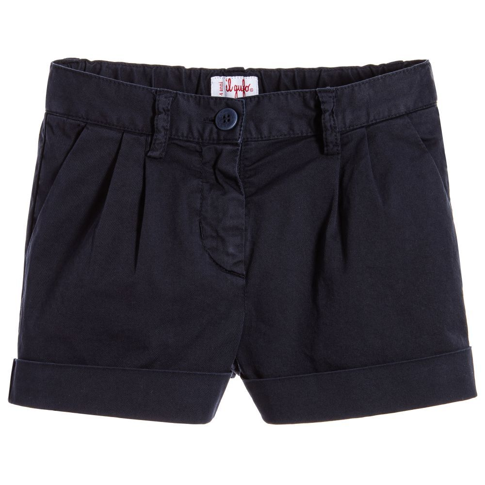 a56f3b37d984b3 Il Gufo Girls Navy Blue Shorts for Girl by Il Gufo. Discover more beautiful  designer