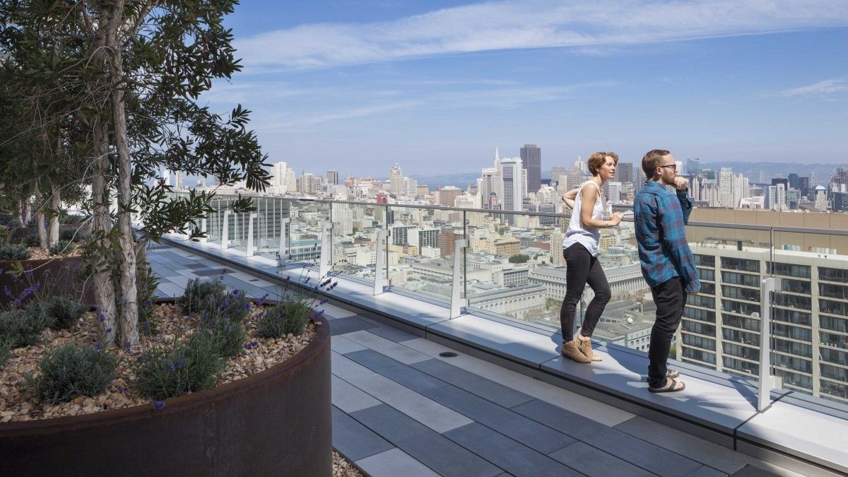 100 Van Ness Rooftop Cmg Landscape Architecture In 2020 Rooftop Rooftop Terrace Landscape Architecture