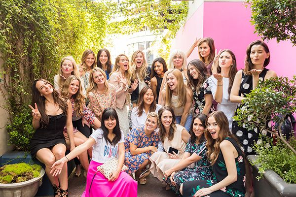 A group of our favorite ladies at the LaurenConrad.com redesign luncheon