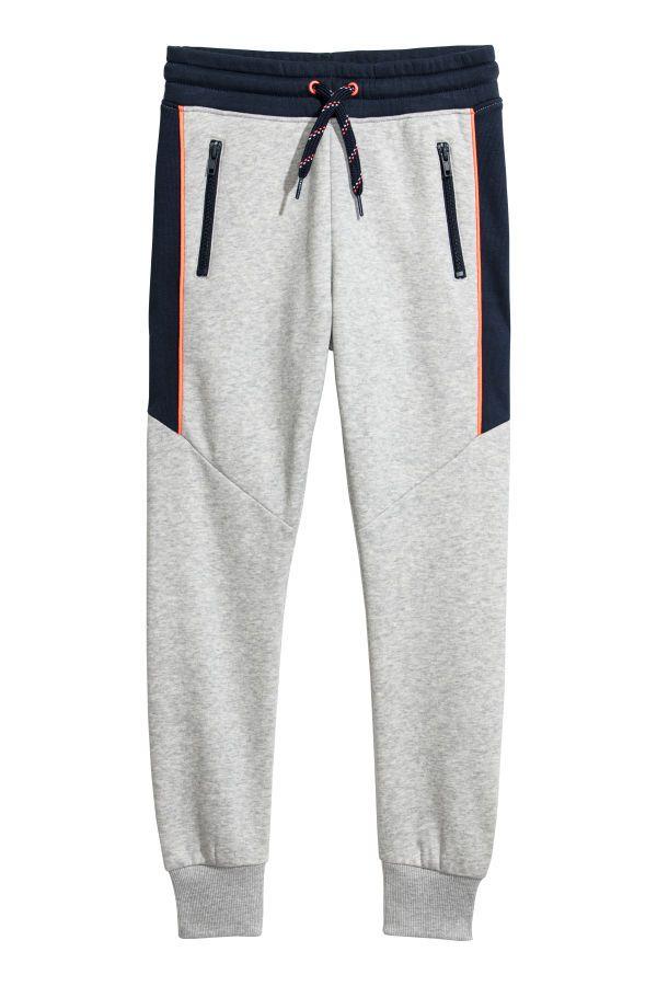 Joggers Gris Jaspeado Azul Oscuro Ninos H M Mx Ropa Deportiva Para Hombre Pantalones De Hombre Moda Ropa De Moda Hombre