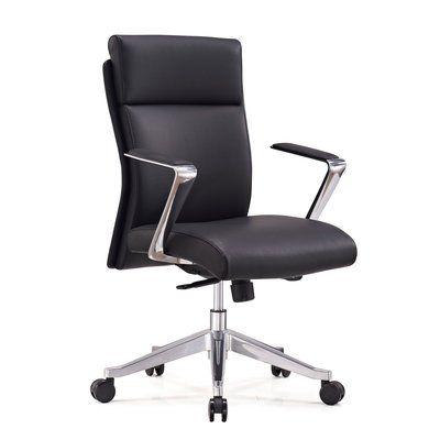 Orren Ellis Ensor Genuine Leather Conference Chair In 2020 Black