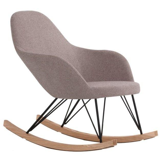 Pr lassez vous dans un rocking chair malibu ce fauteuil design en tissu et de fr ne est un - Reposez vous dans un hamac design ...
