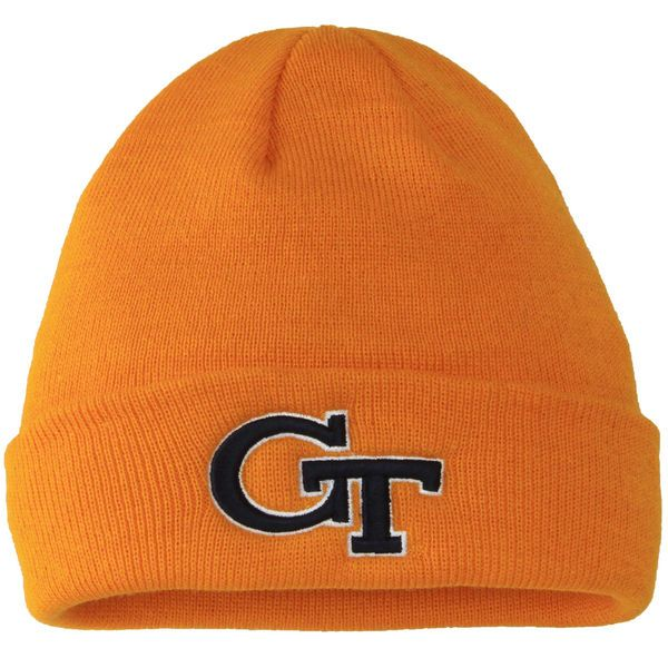539c5d87d06 Top of the World Georgia Tech Yellow Jackets Gold Simple Knit Hat with  Cuff