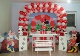 Resultado de imagem para decoração da minnie vermelha