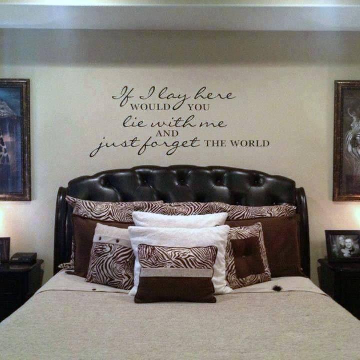 Wedding lyrics above bed! #love #vinyl #decor #bedroom ...