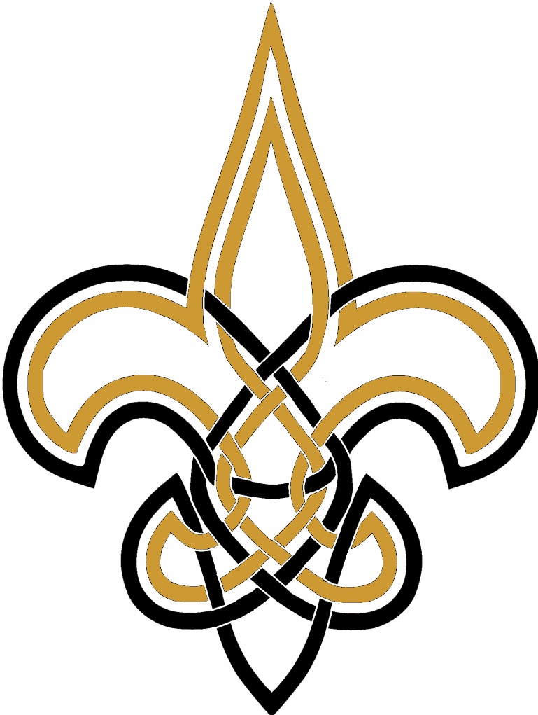 Celtiv Knot Fleur De Lis New Orleans Saints Saintsreport
