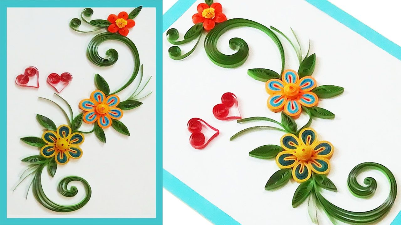 Quill Paper  how to make Beautiful Quilling greeting cards for