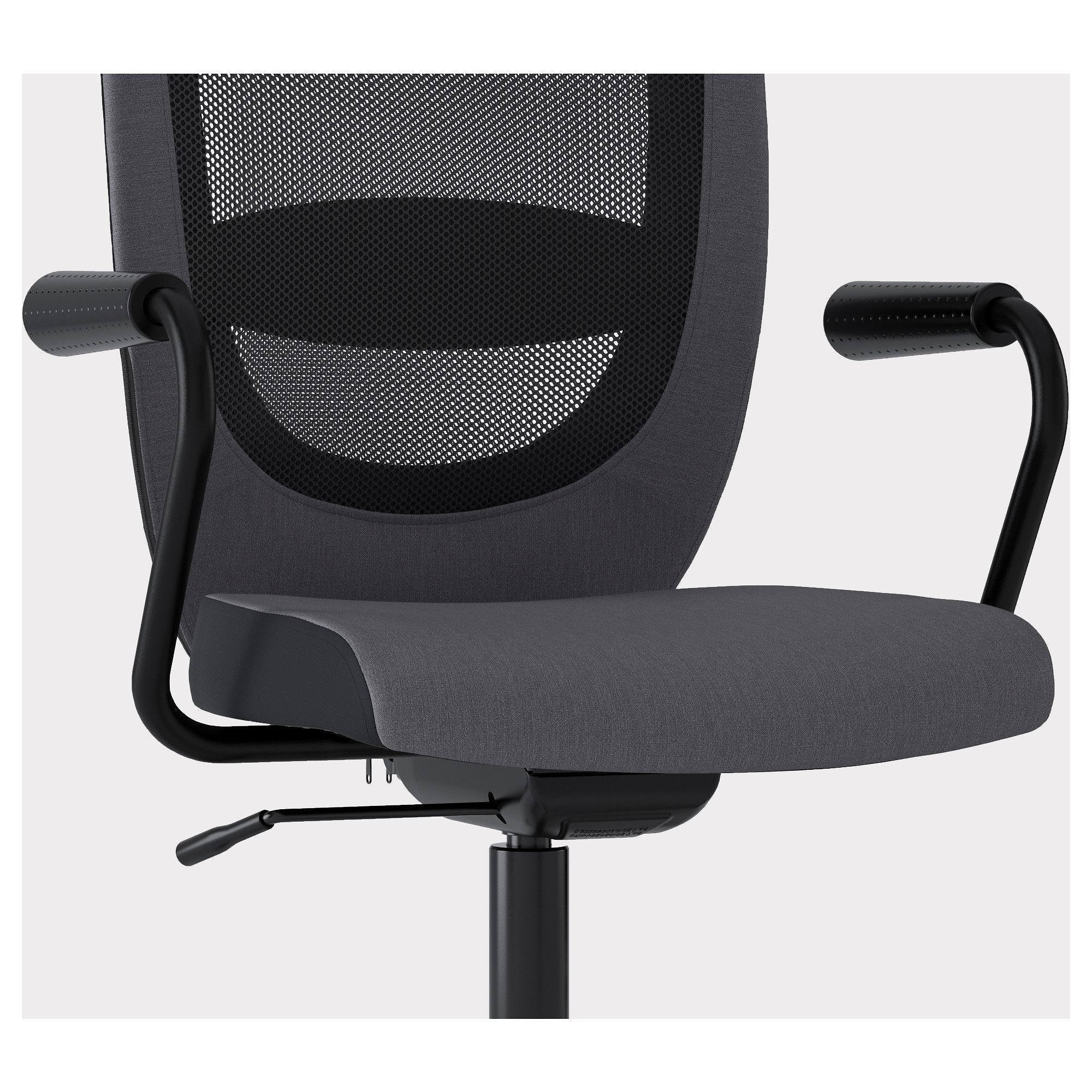 IKEA FLINTAN NOMINELL Gray Office chair with armrests