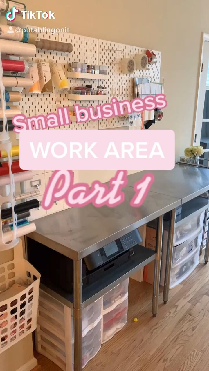 Small Business Work Area Video Home Business Organization Small Business Office Business Storage