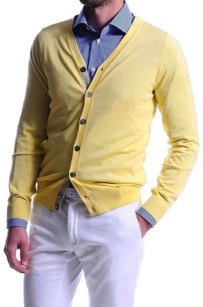 Scopri la nuova e coloratissima collezione di #maglieria #cardigan in cotone e seta su: ---------------------------------------------------- Discover the new and colorful #Sweaters cardigan collection on: store.angelonarde... #AngeloNardelli 1951 #Menswear #SS14 #estore