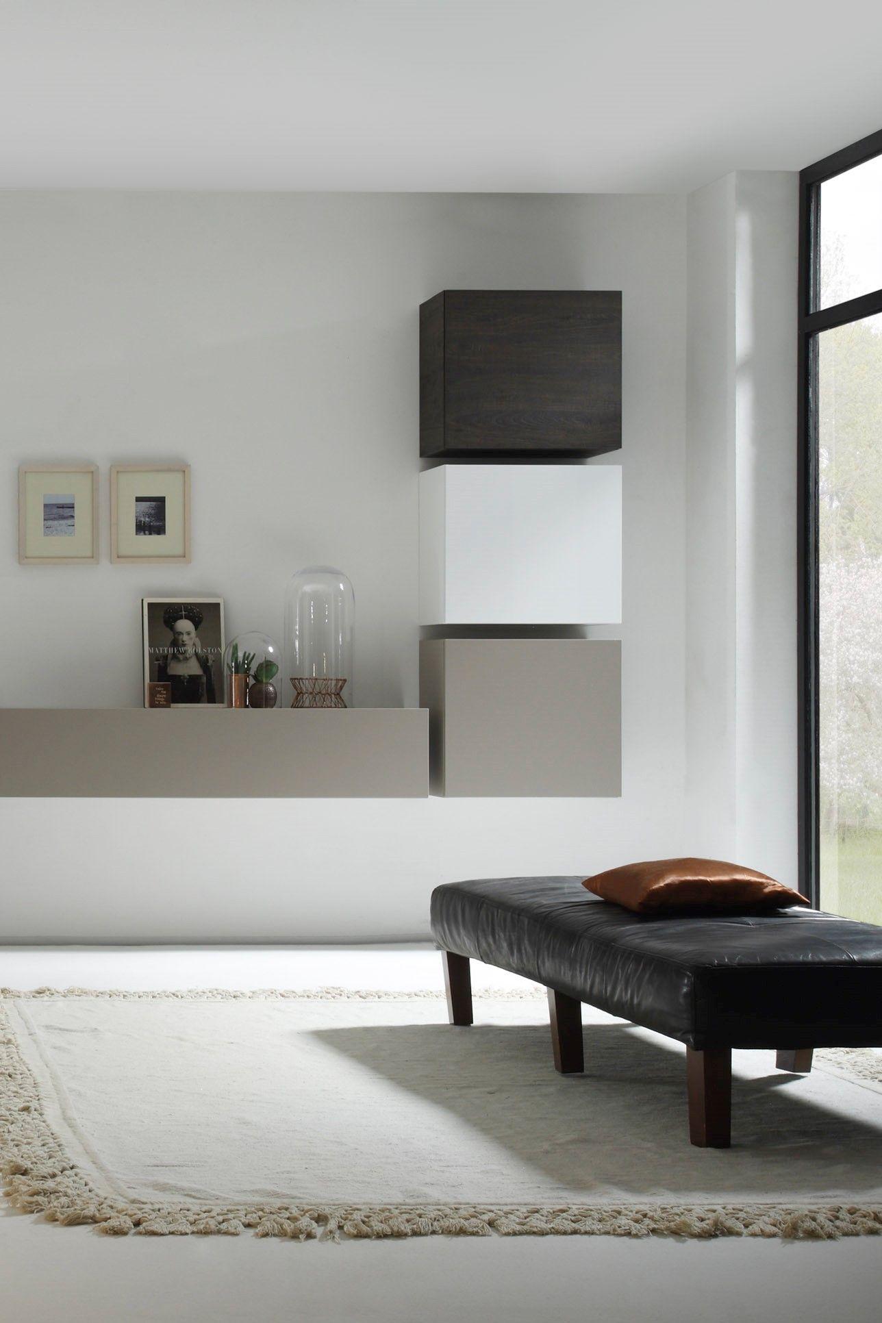 Wohnwand Weiss Eiche Modern Wohnen Wohnzimmerentwurfe