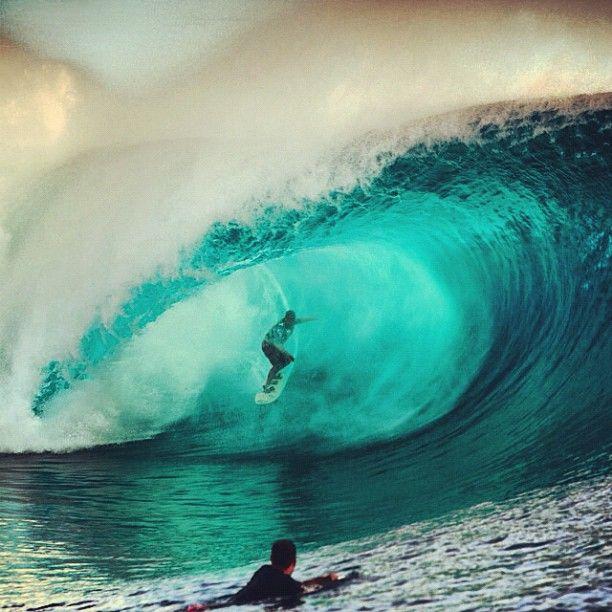 Raimana at Teahupoo'o, photo by surfingmagazine