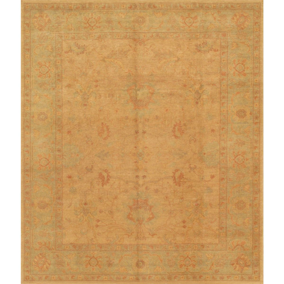 Pasargad Turkish Oushak Hand Knotted Beige L Gray Wool Rug 8 X 10