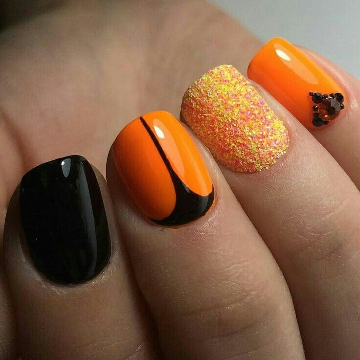 Pin by Sukhpreet on Amazing nails in 2020 Orange nails