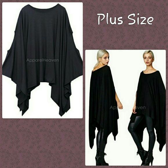 bcaaafe15fe 2X - 3x Plus Size Black Dress Gorgeous Sexy Plus Size Oversized  asymmetrical Dress or