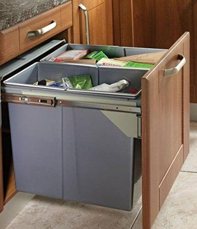 Recycle Bin Pull Out Kitchen Waste Bin 600Mm  68 Ltr Jc609M2 Amazing Kitchen Waste Bins 2018