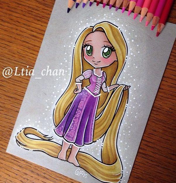 Rapunzel En 2019 Dessin Raiponce Dessin Kawaii Princesse