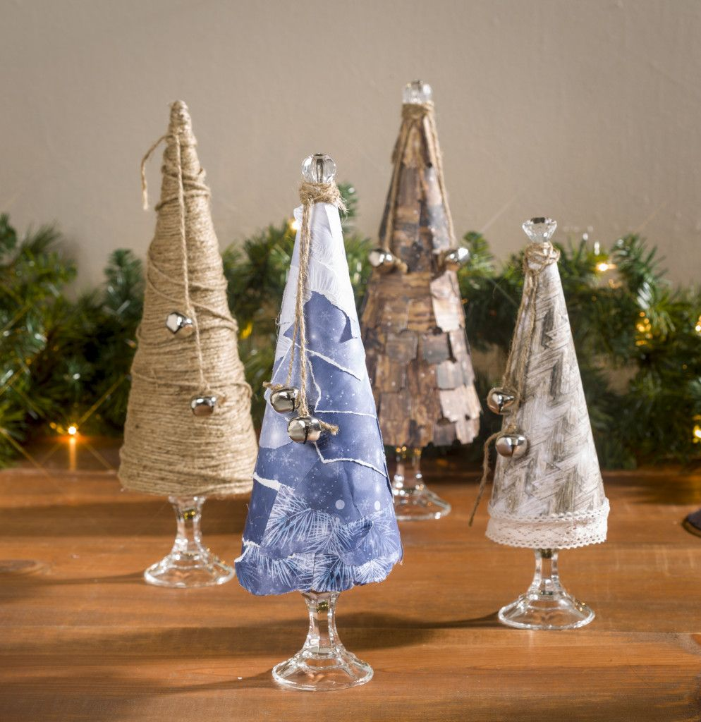 Winter Paper Mache Cone Tablescape Craft Warehouse Paper Mache Cone Paper Christmas Decorations Paper Mache Christmas