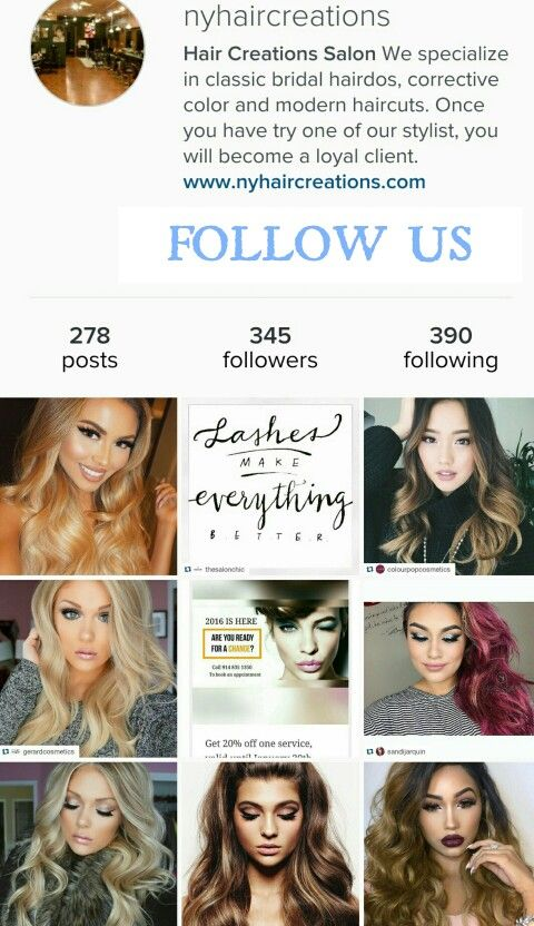 Follow us in instagram @nyhaircreations